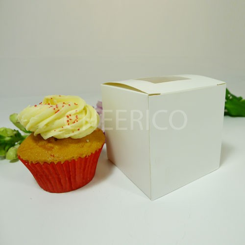 1 Cupcake Top Window Box w finger hole ($1.20/pc x 25 units)