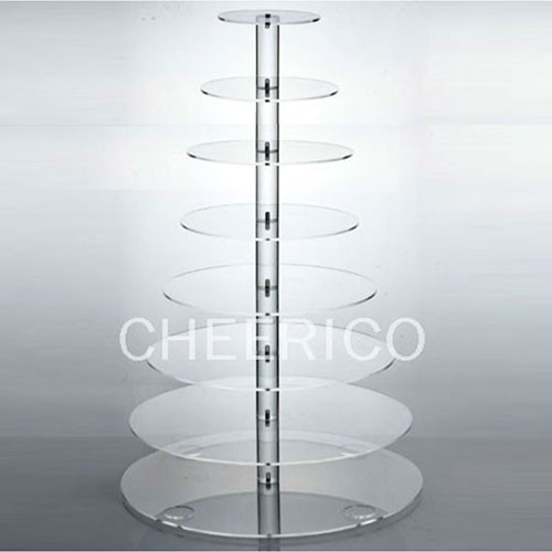 8 Tier Maypole Acrylic Round Cupcake Stand