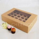 24 Kraft Brown Window Cupcake Box ($3.90pc x 25 Units)