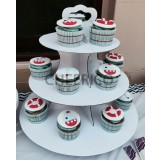 3 units X 3 Tier Disposable Cupcake Stand
